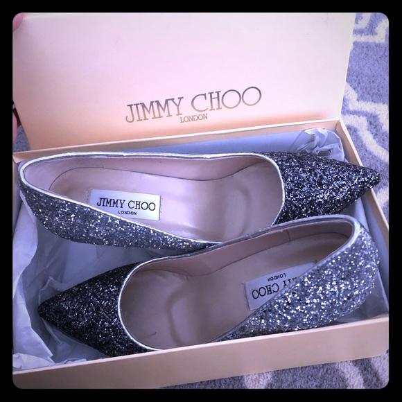 c195609cb914 Jimmy Choo Shoes   Romy Style Silver Glitter Pumps   Poshmark